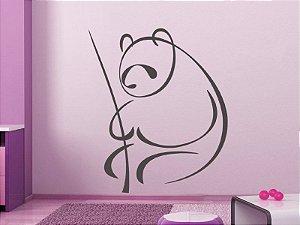 Adesivo de parede - Panda Simplificado