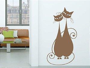 Adesivo de parede - Casal de Gatos