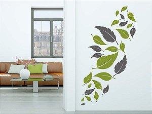 Adesivo de parede - Folhas ao Vento