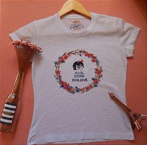 T-shirt Estampada Bonjour