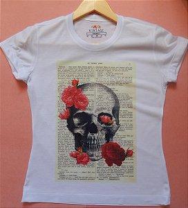 T-shirt Estampada Caveira