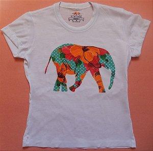T-shirt Estampada Elefante Color