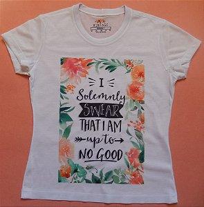 T-shirt Estampada Frase I Solemnly