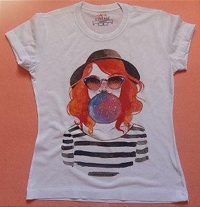 T-shirt Estampada Girl Chiclé