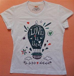 T-shirt Estampada Balão Love