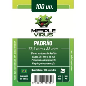 Sleeves Meeple Virus 63,5 x 88 MM - (PADRÃO) - 100 Unidades
