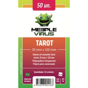 Sleeves Meeple Virus 70 x 120 MM (TAROT) - 50 Unidades