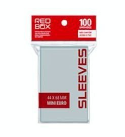 Sleeves RedBox 44 X 68 MM – (MINI EURO) - 100 Unidades