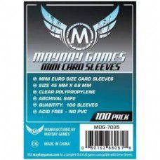 Sleeves MayDay Games 45 X 68 MM – (MINI EURO) - 100 Unidades