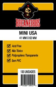 Sleeves Bucaneiros 41 x 63 MM - (MINI USA) - 100 Unidades