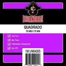Sleeves Bucaneiros 70 x 70MM (QUADRADO) - 100 Unidades