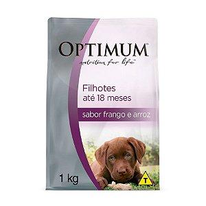 Optimum Cães Filhotes Frango e Arroz 1kg