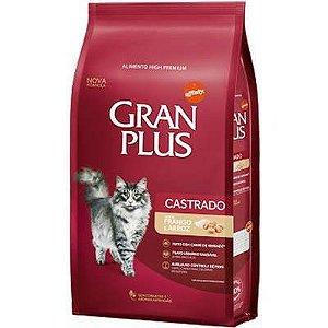 Gran Plus Gatos Castrados - Frango e Arroz 3kg