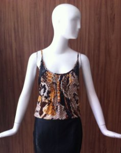 REGATA ANIMAL PRINT E RENDA MODELAN