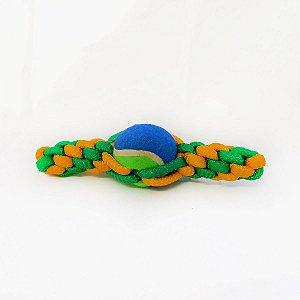 Brinquedo Mordedor Cachorro Corda Pet Bola Tênis Cães DOG001