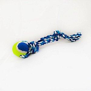 Brinquedo Mordedor Cachorro Corda Pet Bola Tênis Cães DOG004