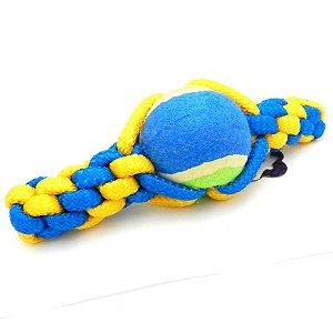 Brinquedo Mordedor Cachorro Corda Pet Bola Tênis Cães DOG007