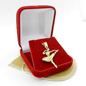 Pingente Bailarina 30mm Folheado Ouro Pi152