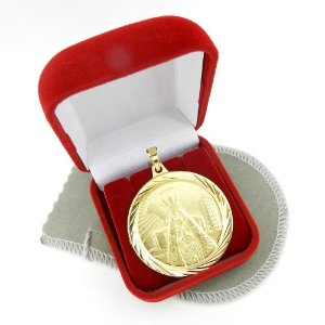 Pingente Nossa Senhora Aparecida 4cm Folheado Ouro Pi171
