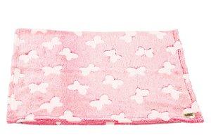 Manta para Cachorro Flannel 3D Rosa