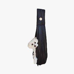 Bolsa Sling Para Cachorro Nylon Preto