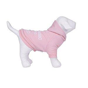 Moletom Para Cachorro Woof Classic High Rosa Bebê