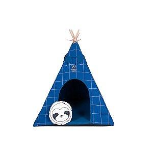 Cabana Para Cachorro Woof Classic Apache Lazzy Grid Azul