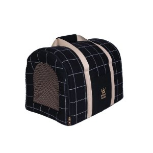 Bolsa De Transporte Pet Woof Classic Lazzy Grid Preto