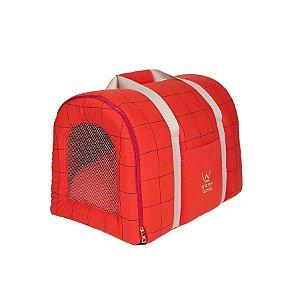 Bolsa De Transporte Pet Woof Classic Lazzy Grid Telha