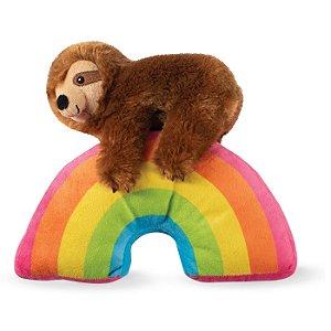 Brinquedo Para Cachorro Pelúcia Preguicinha Arco-Íris