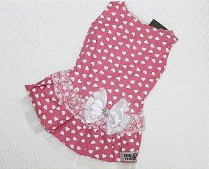 Vestido Coração Rosa DuDog Vest