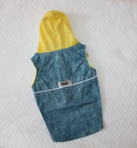 Colete jeans com capuz DuDog Vest