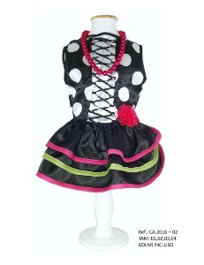 Vestido Fantasia para Cachorro Colombina