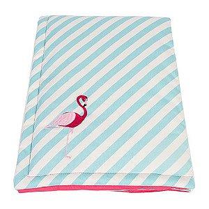Edredom Woof Classic Listrado Flamingo