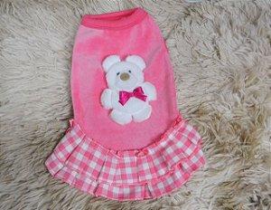 Vestido para Cachorro Oh My Dog Plush Pink