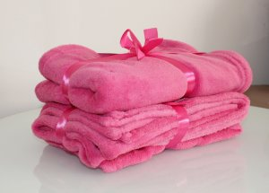 Manta Microfibra Pink Malloo
