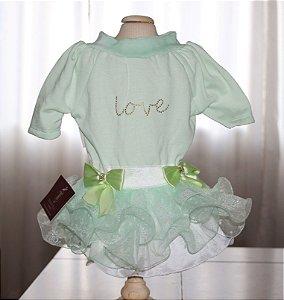 Vestido para Cachorro Maristela Moda Pet Princess Love