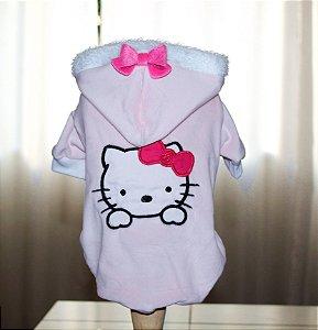 Casaco Plush Hello Kitty rosa
