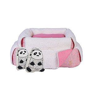 Cama para Cachorro Woof Classic Panda Rosa