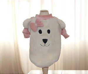 Suéter Dog Ovelhinha Rosa