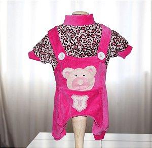 Macacão em Plush Tip Top Pink