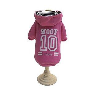 Casaco Moletom c/ Capuz - WOOF 10 Rosa