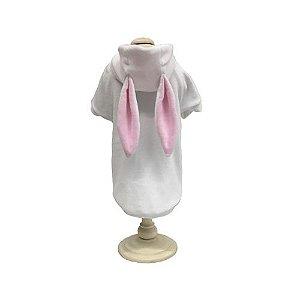Casaco Plush Coelho branco e rosa Woof Classic