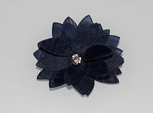 Laço Flor Azul Marinho