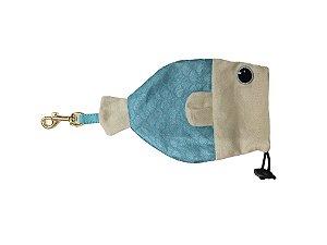Porta Saquinho Woof Classic - Deep Tiffany