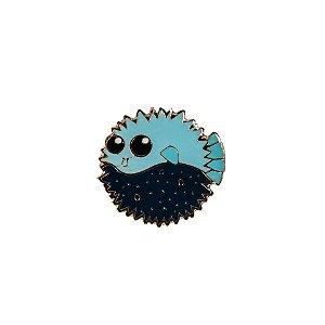 Pin Esmaltado Peixe Baiacu Azul Deep Woof Classic