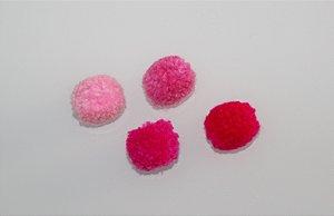 Lacinho Pom Pom (unidade) tons de rosa