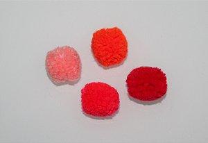 Lacinho Pom Pom (unidade) tons de laranja