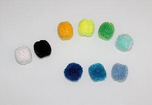 Lacinho Pom Pom (unidade) cores variadas