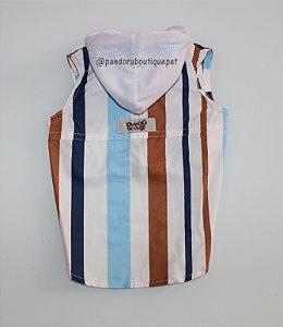 Colete com capuz DuDog Vest Listrado